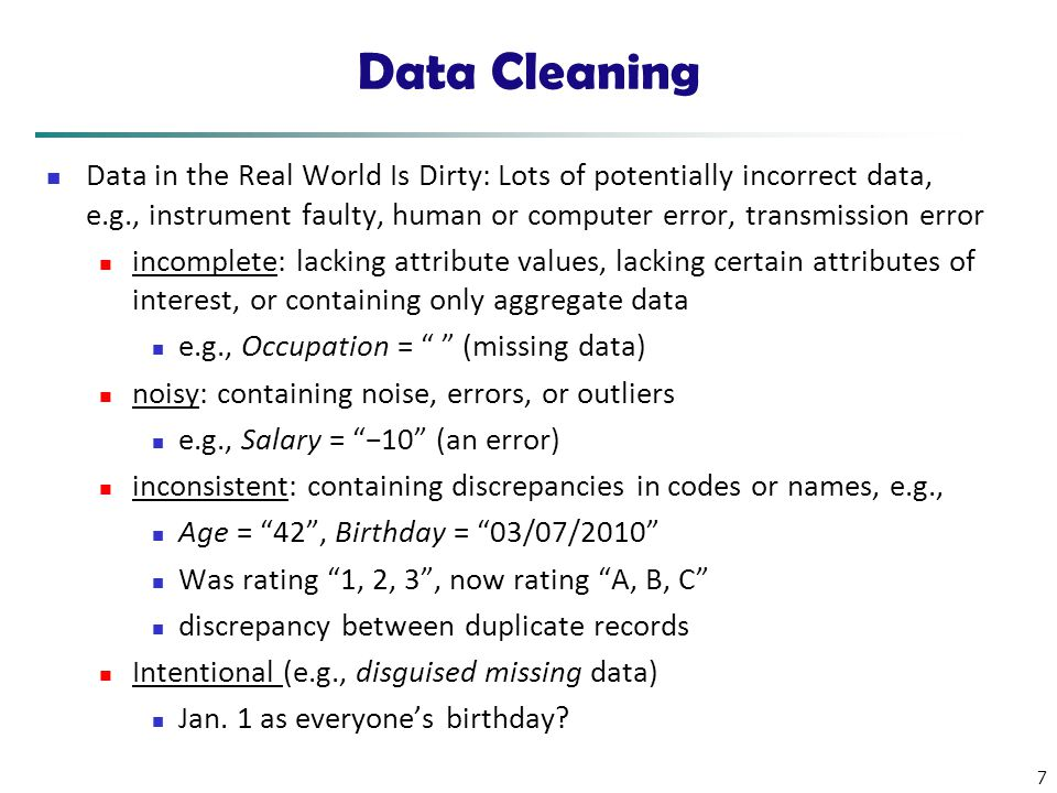 data scrubbing techniques Data Mining: Concepts and Techniques (3rd ed.) — Chapter 3 — - ppt ...