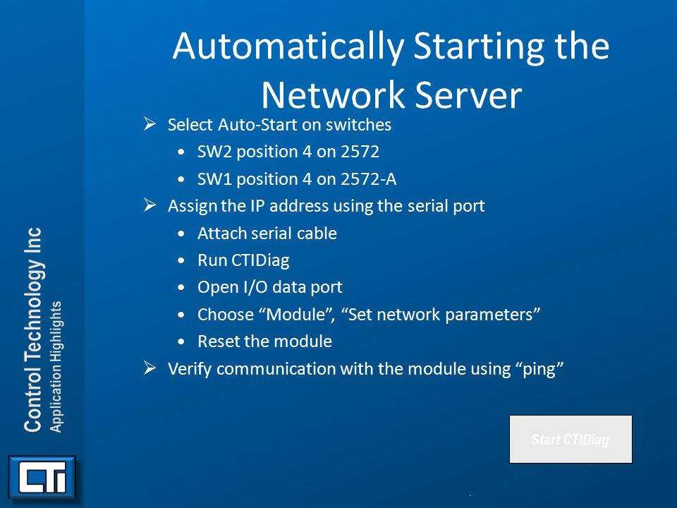 Automatically Starting the Network Server