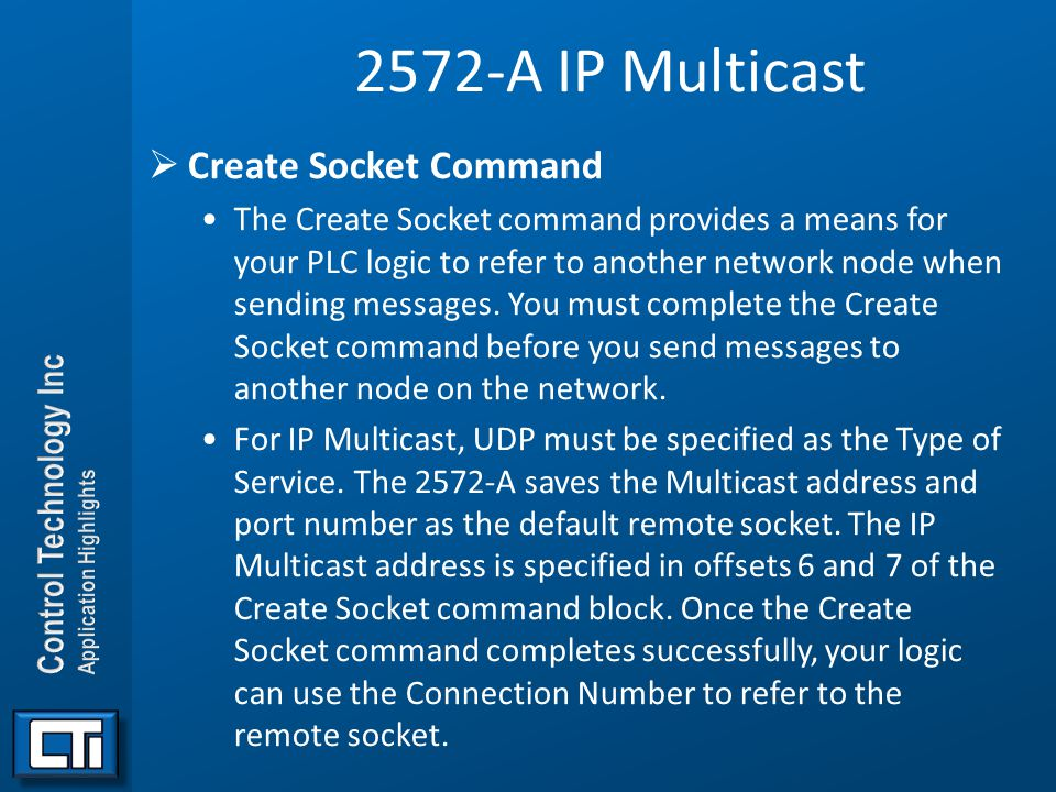 2572-A IP Multicast Create Socket Command