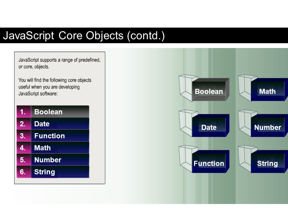 JavaScript Core Objects (contd.)