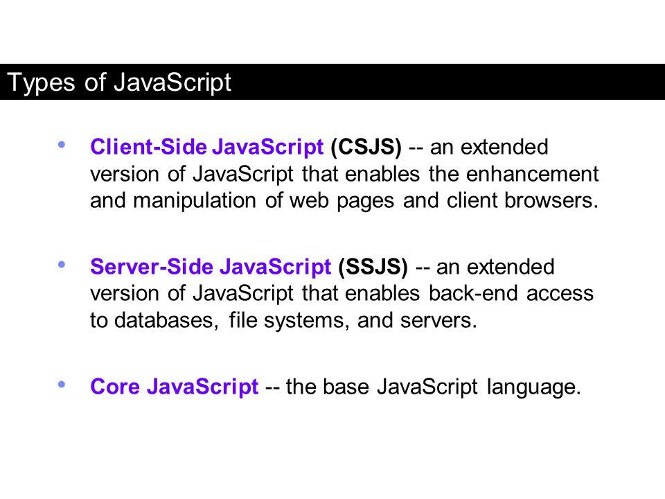 Types of JavaScript