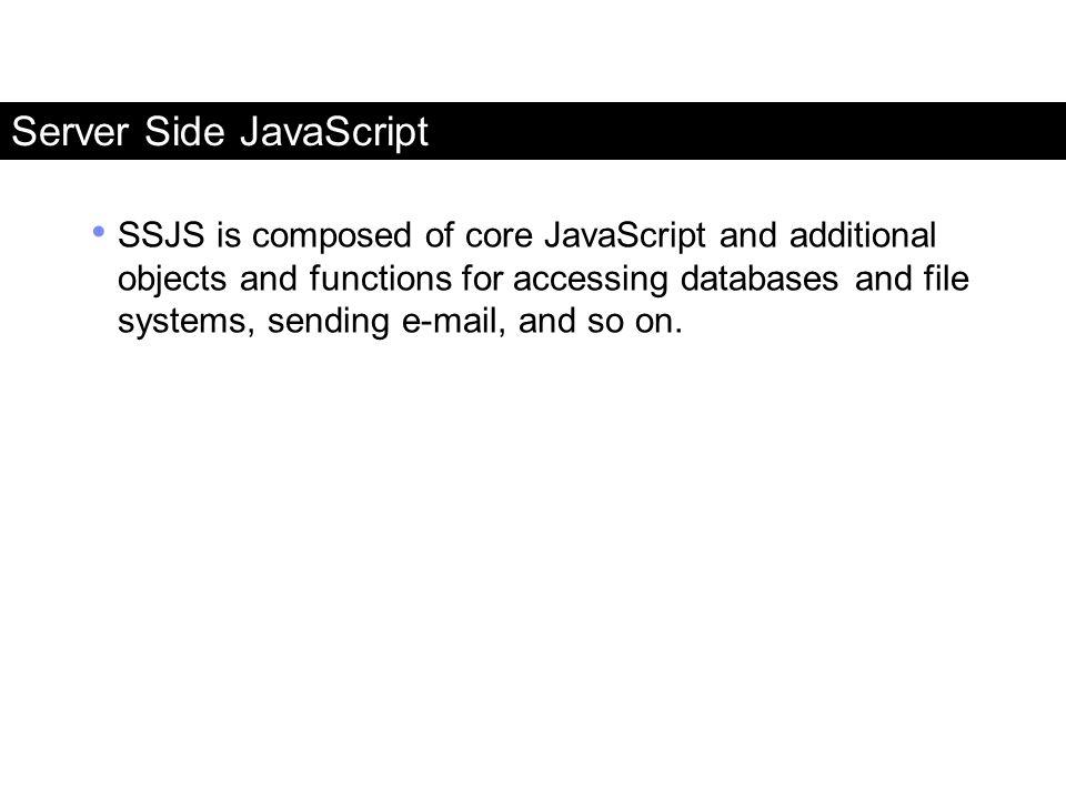Server Side JavaScript