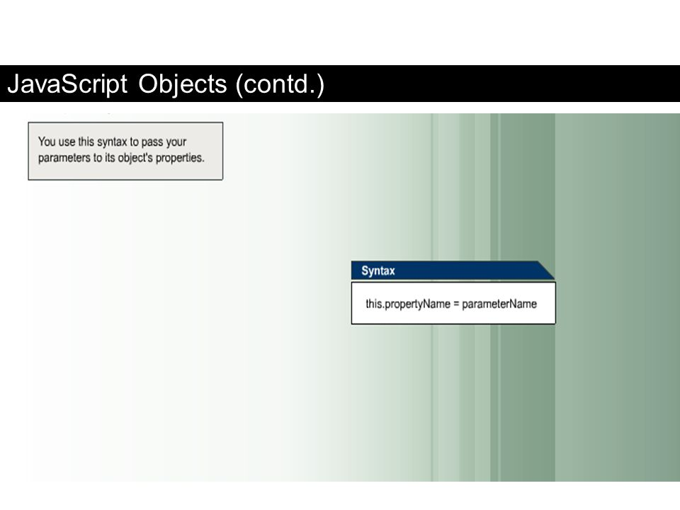 JavaScript Objects (contd.)