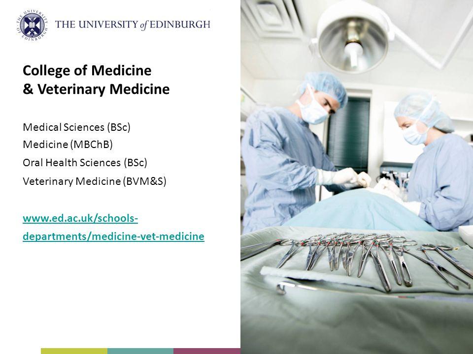 College of Medicine & Veterinary Medicine