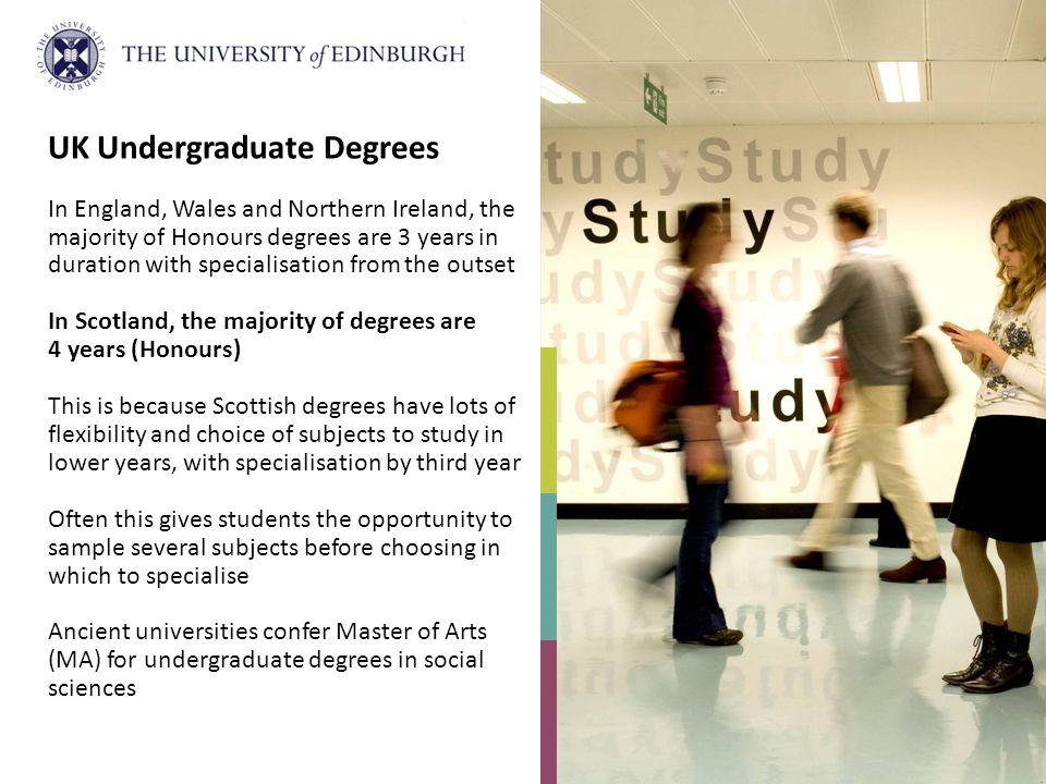 UK Undergraduate Degrees