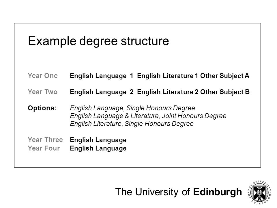 Example degree structure