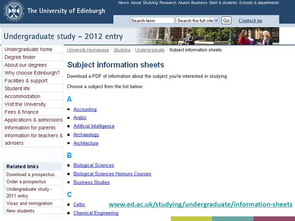 www.ed.ac.uk/studying/undergraduate/information-sheets 23 23