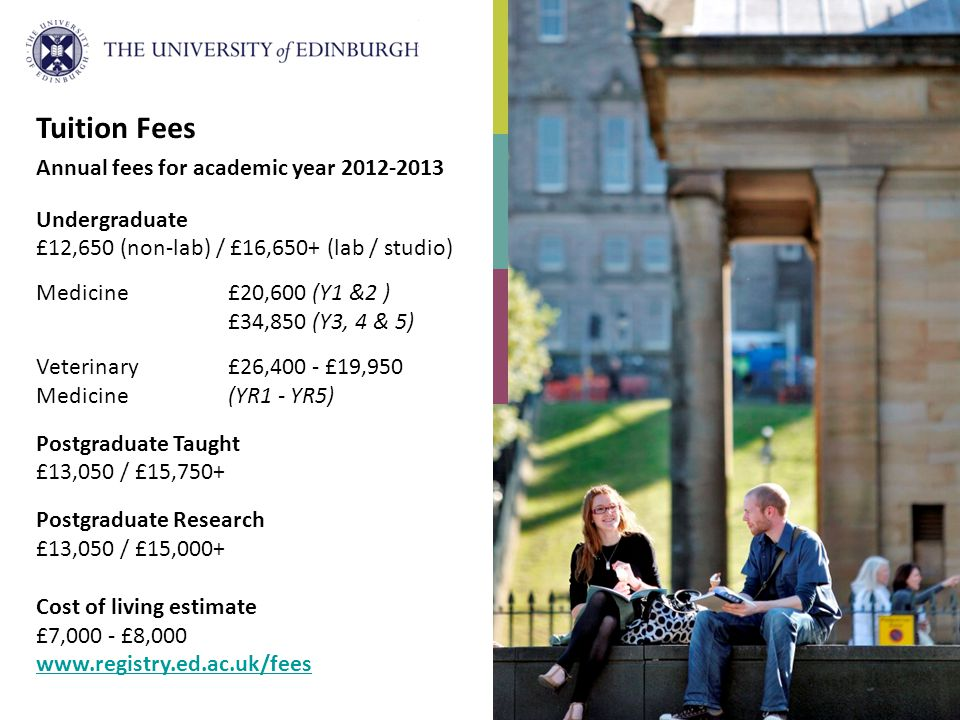 Tuition Fees Annual fees for academic year 2012-2013 Undergraduate