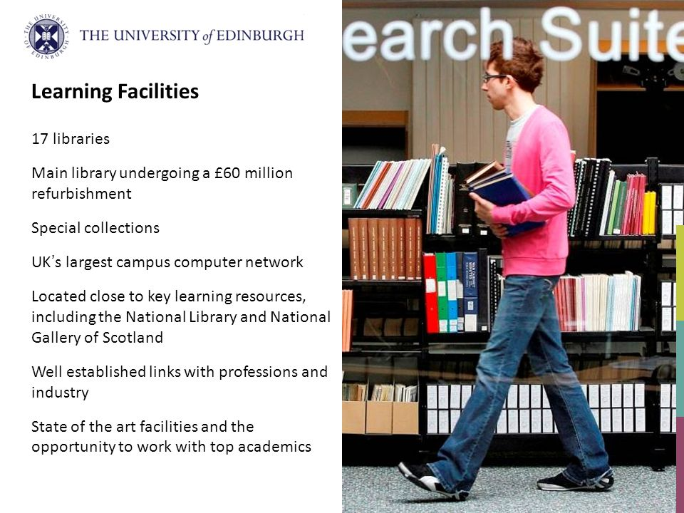 Learning Facilities 17 libraries