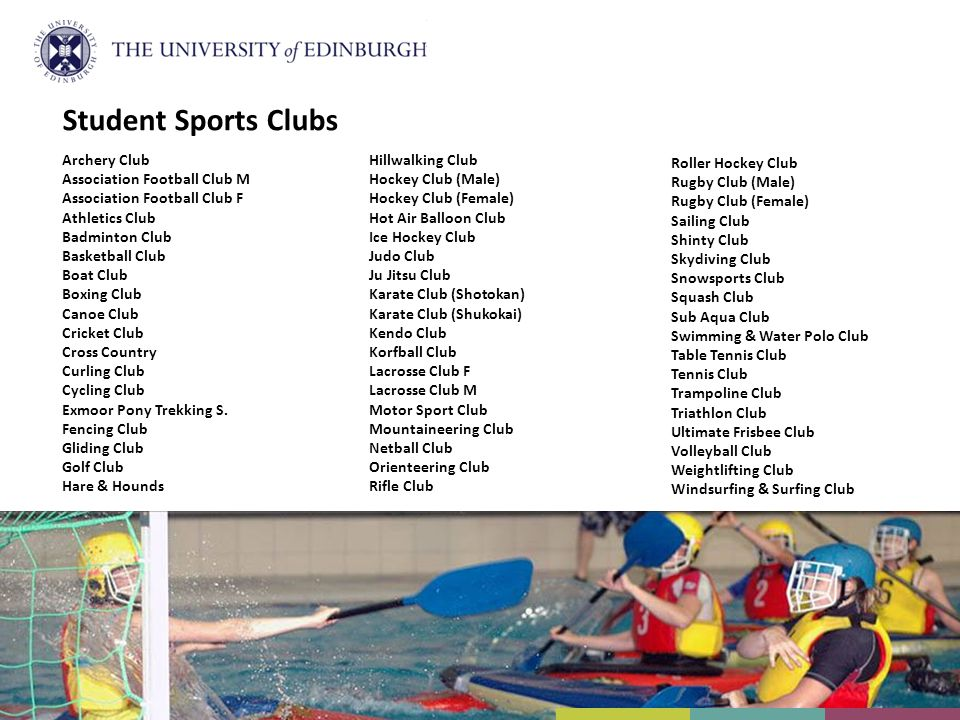 Student Sports Clubs