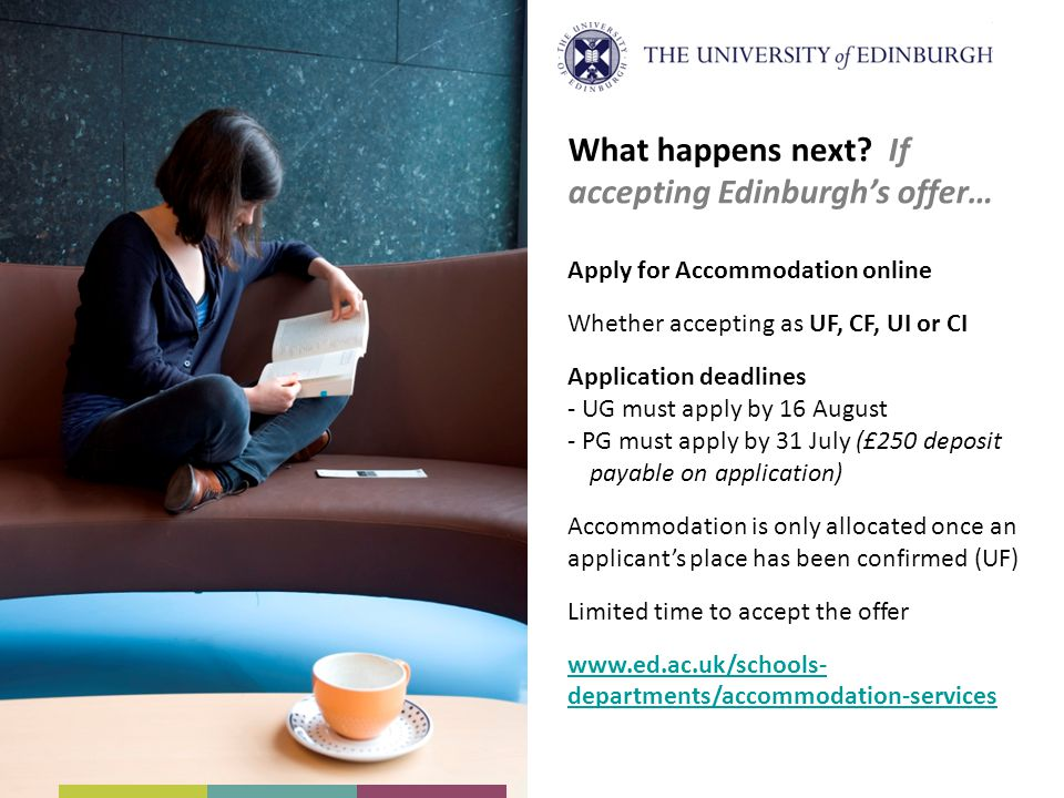 What happens next If accepting Edinburgh's offer…