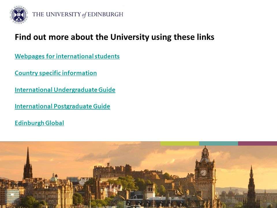 Find out more about the University using these links