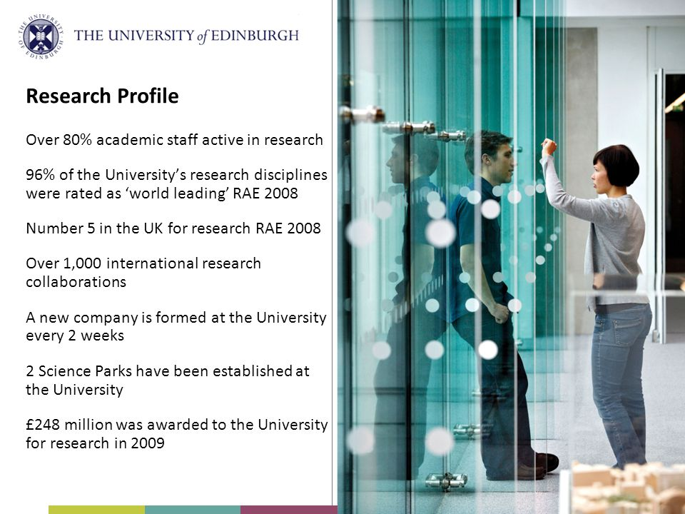 Research Profile Over 80% academic staff active in research