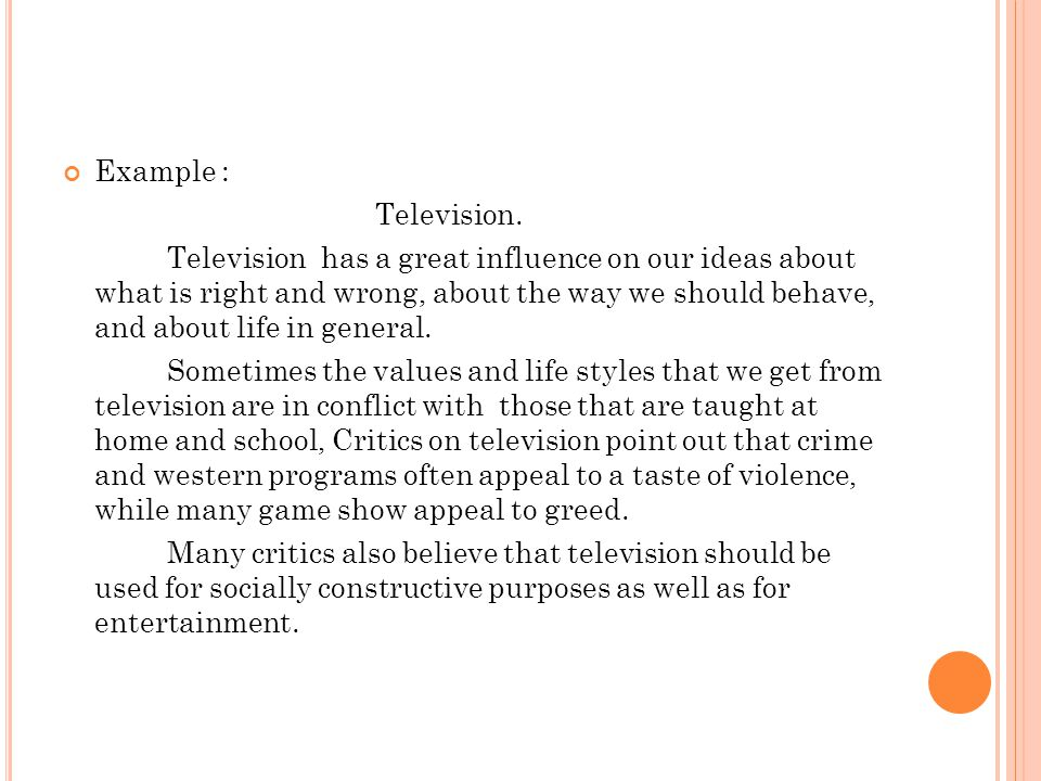 Example : Television.