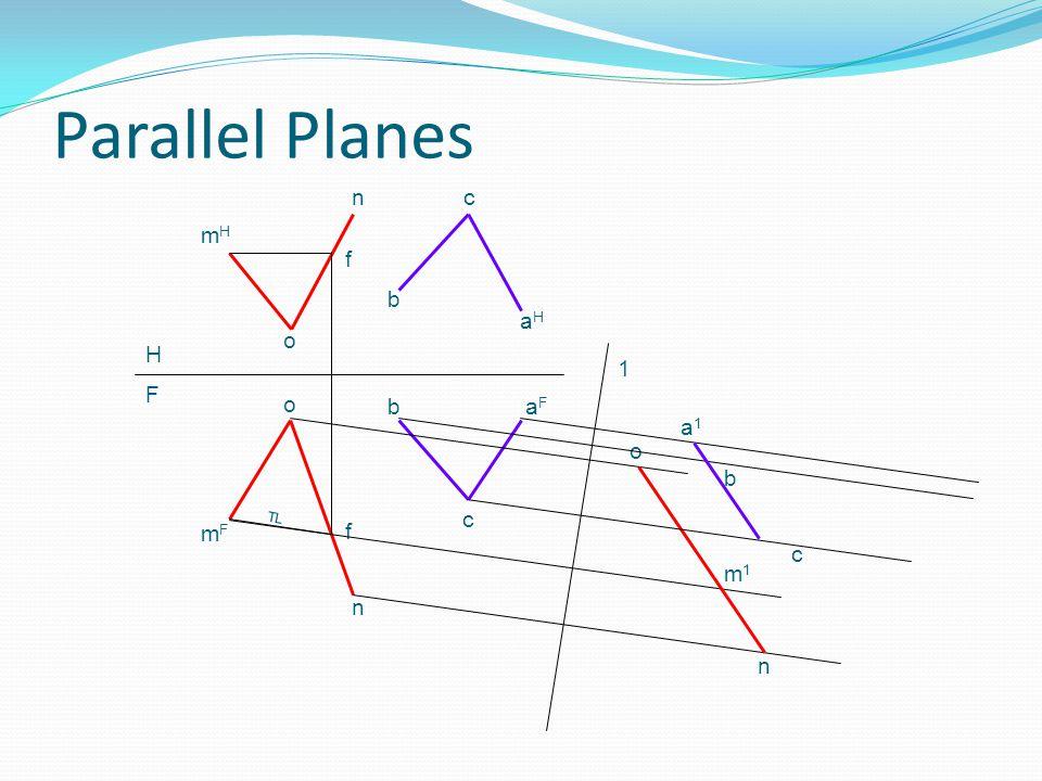 Parallel Planes n c mH f b aH o H 1 F o b aF a1 o b TL c mF f c m1 n n