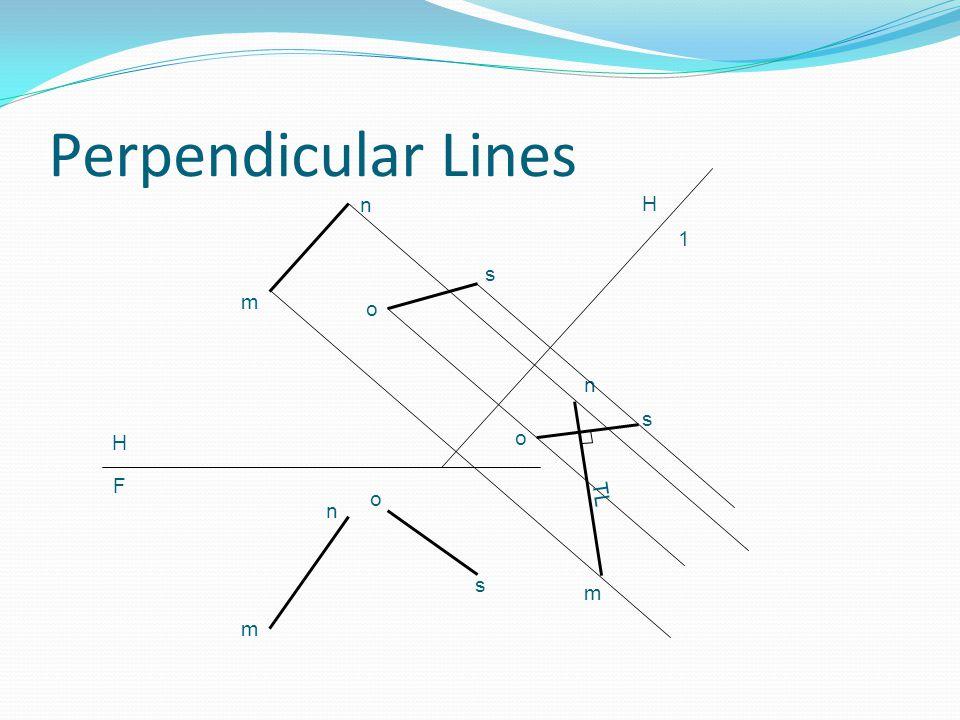 Perpendicular Lines n H 1 s m o n s H o F o TL n s m m