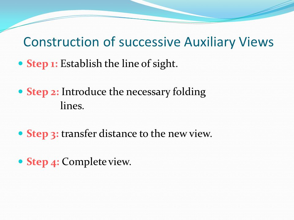 Construction of successive Auxiliary Views