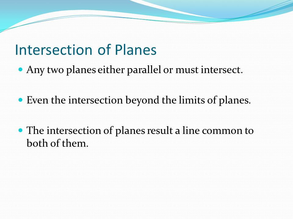 Intersection of Planes