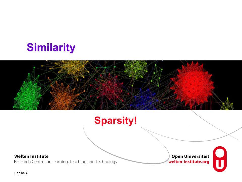 Similarity Sparsity!