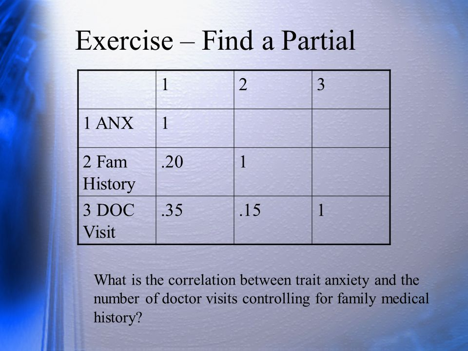 Exercise – Find a Partial