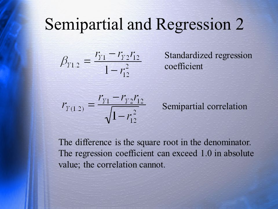 Semipartial and Regression 2