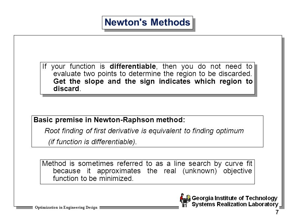 Newton s Methods