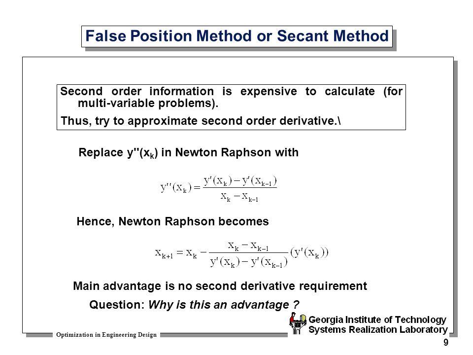 False Position Method or Secant Method