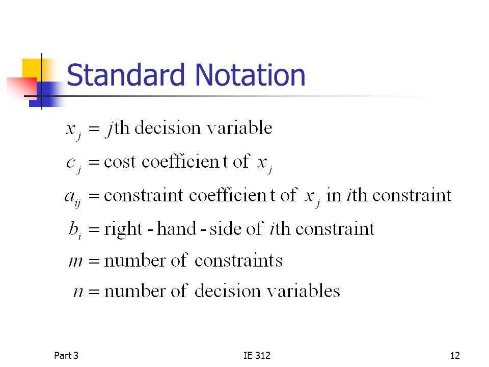 Standard Notation Part 3 IE 312