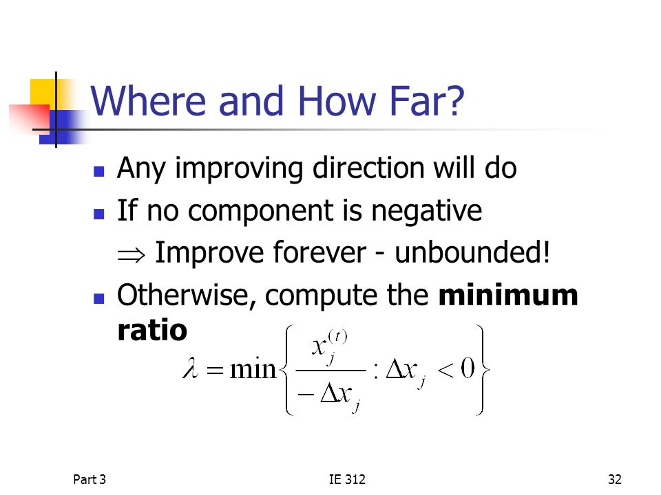 Where and How Far Any improving direction will do