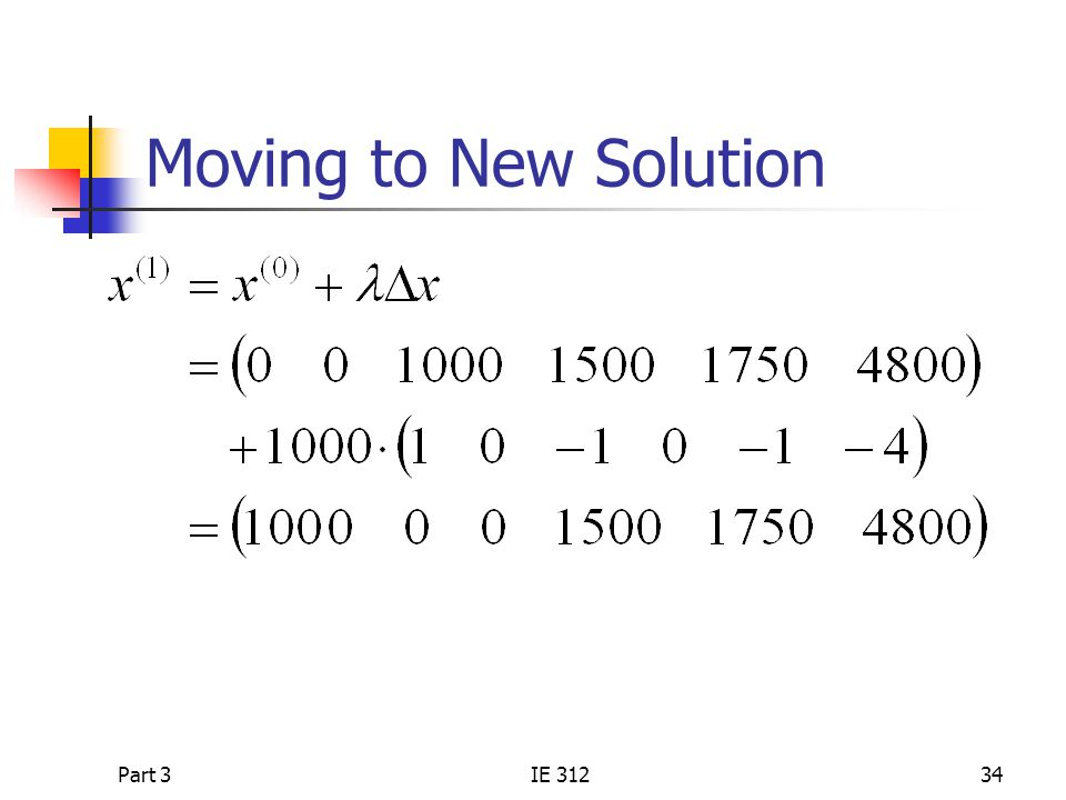 Moving to New Solution Part 3 IE 312