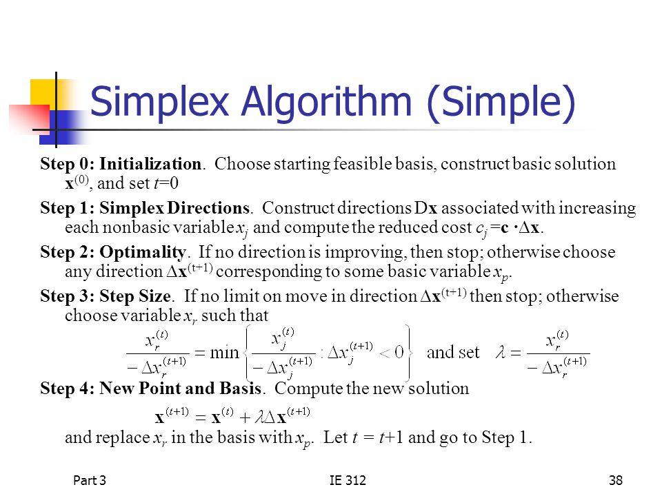 Simplex Algorithm (Simple)