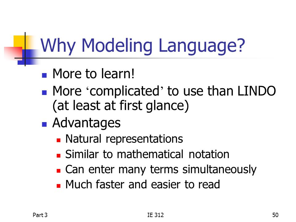 Why Modeling Language More to learn!