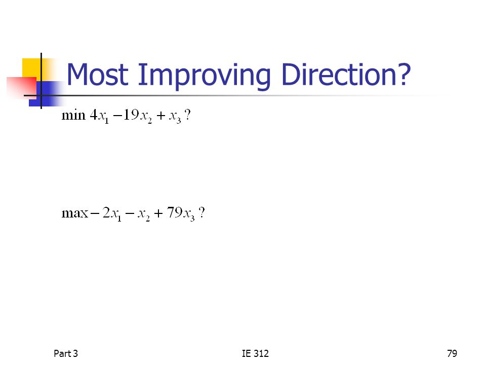 Most Improving Direction