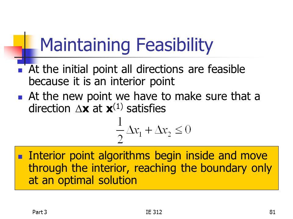 Maintaining Feasibility