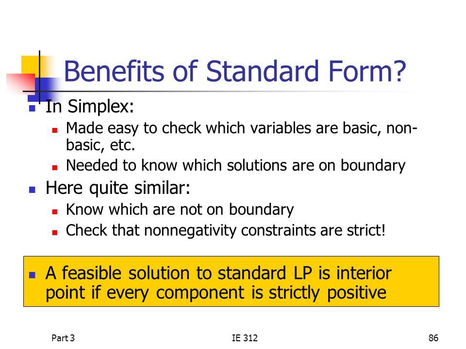 Benefits of Standard Form