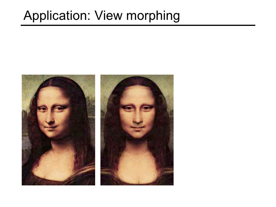 Application: View morphing