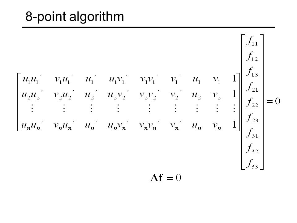 8-point algorithm