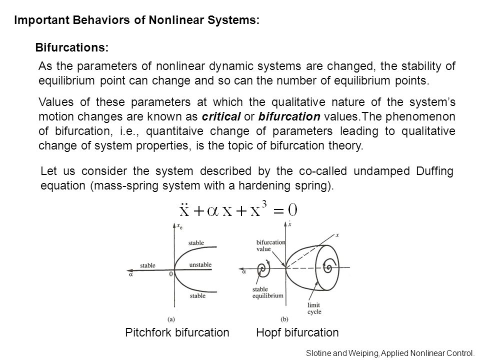 Important Behaviors of Nonlinear Systems: