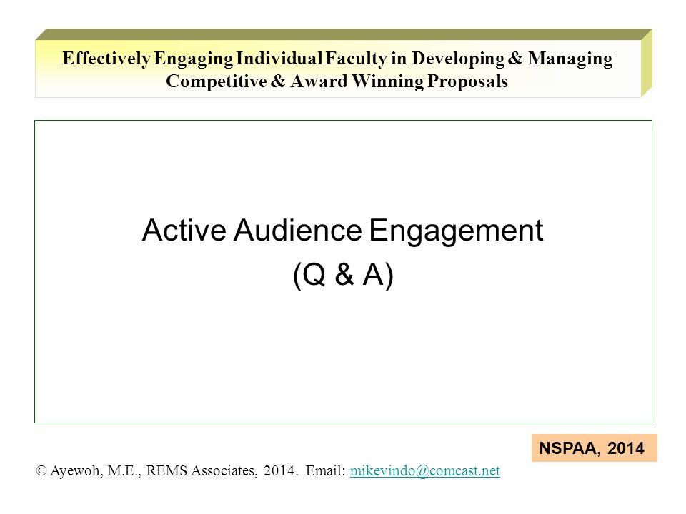 Active Audience Engagement (Q & A)