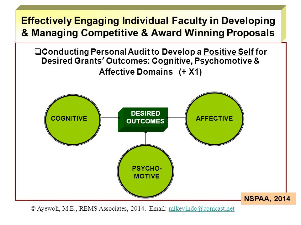 Effectively Engaging Individual Faculty in Developing & Managing Competitive & Award Winning Proposals
