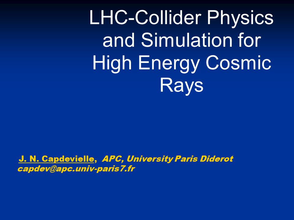 LHC-Collider Physics and Simulation for High Energy Cosmic Rays