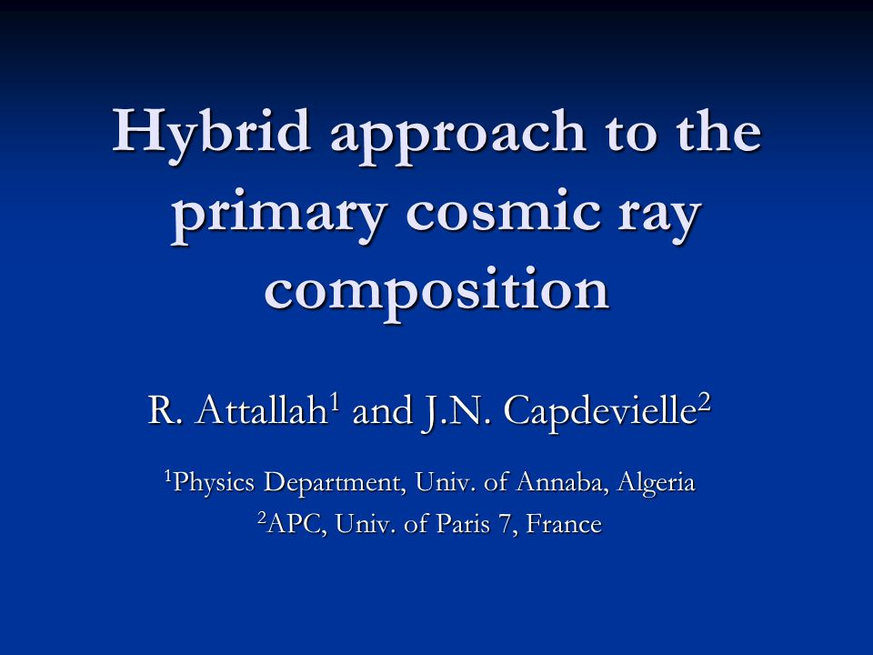 Hybrid approach to the primary cosmic ray composition