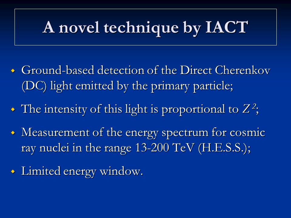A novel technique by IACT