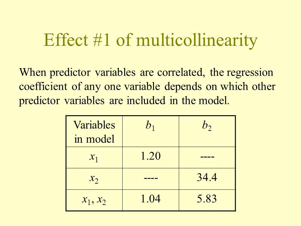 Effect #1 of multicollinearity