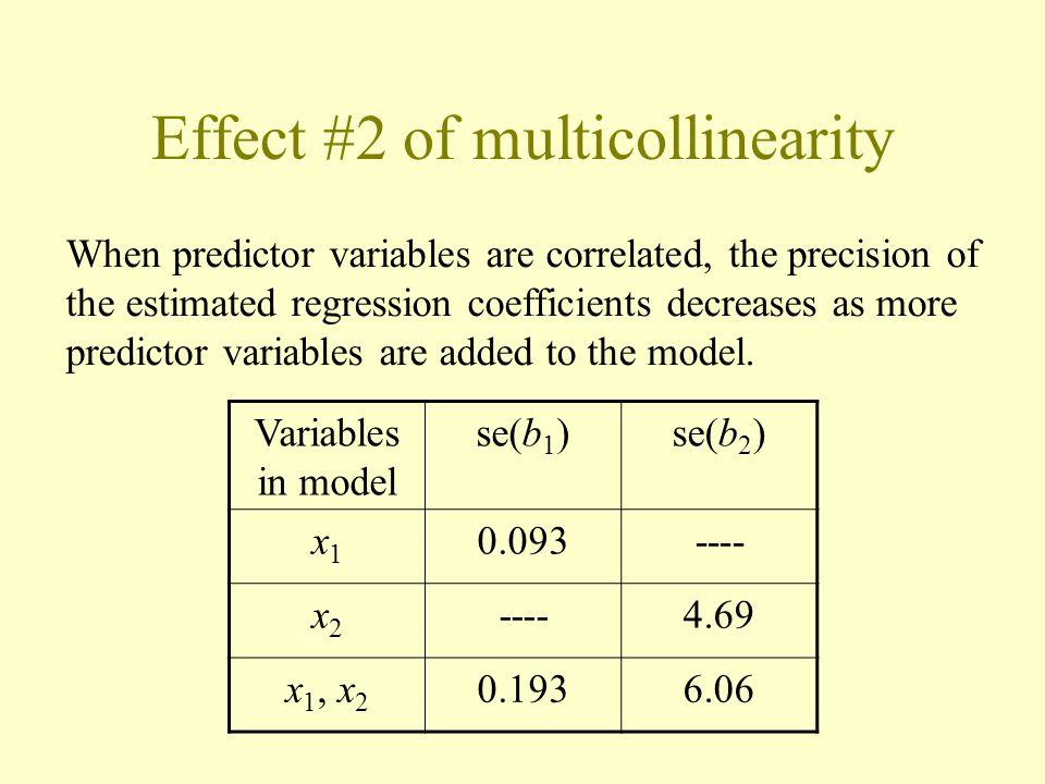 Effect #2 of multicollinearity