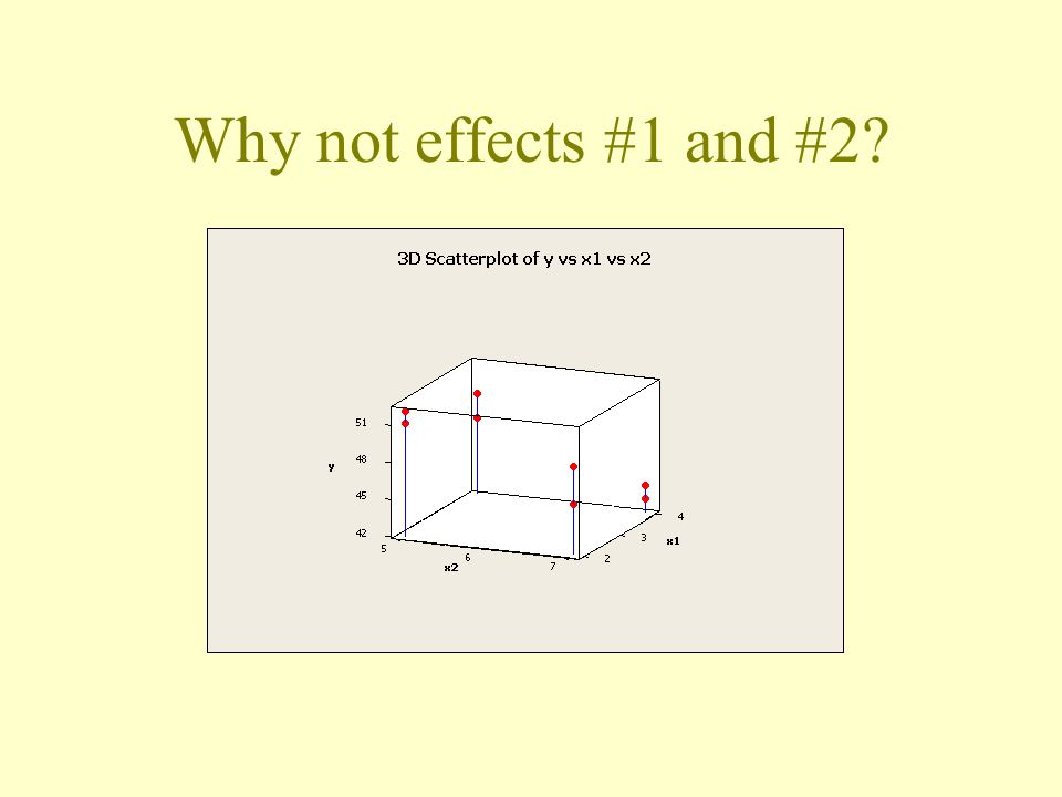 Why not effects #1 and #2