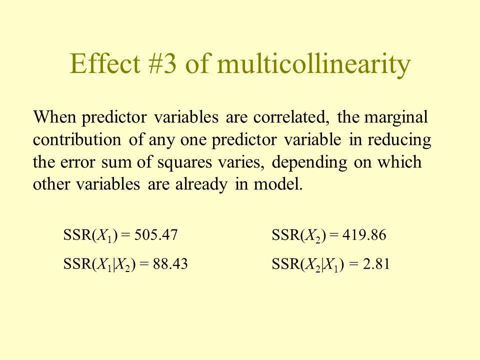 Effect #3 of multicollinearity