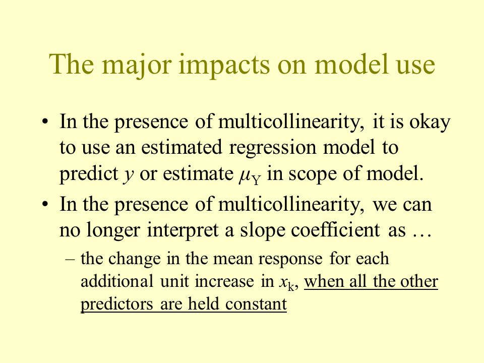 The major impacts on model use