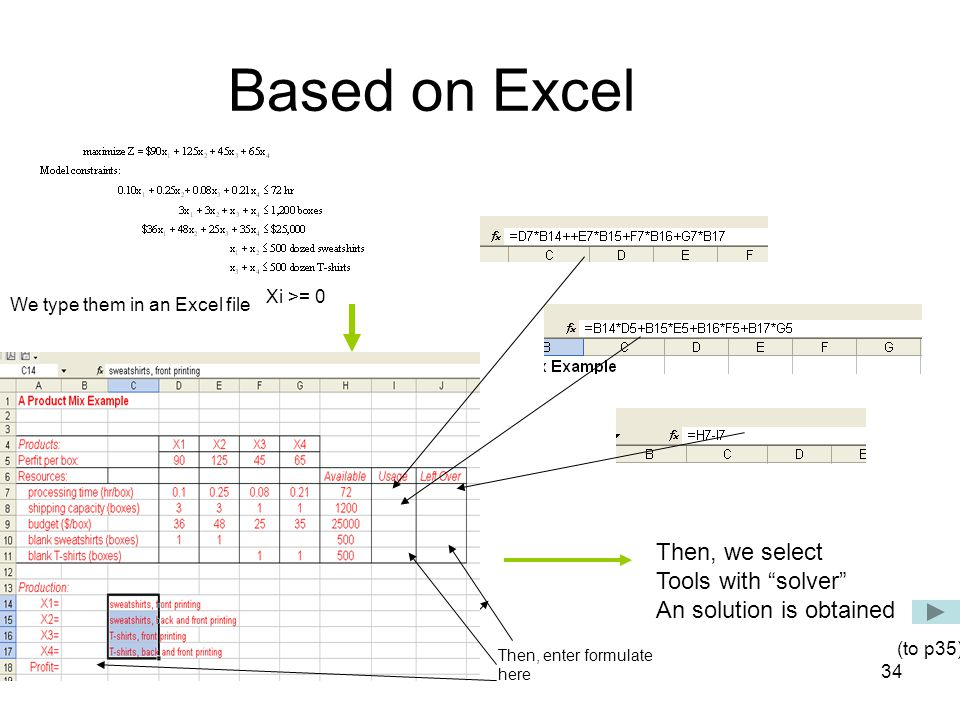Based on Excel Then, we select Tools with solver