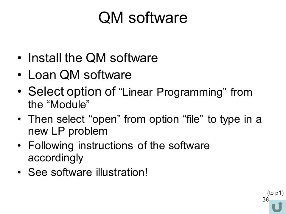 QM software Install the QM software Loan QM software
